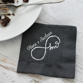 Love for Infinity - White - Foil Cocktail Napkin
