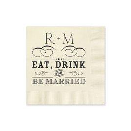 Be Married - Ecru - Foil Cocktail Napkin