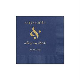 Modern Glow - Navy - Foil Cocktail Napkin