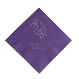 Purple Cocktail Napkin