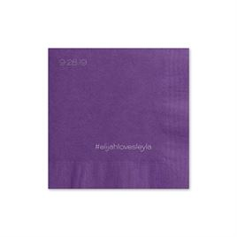Simple Details - Purple - Cocktail Napkin