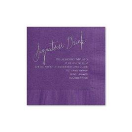 Signature Drink - Purple - Foil Cocktail Napkin