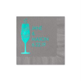 Clink Clink - Pewter - Foil Cocktail Napkin