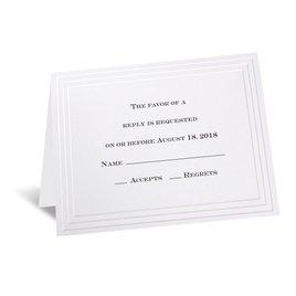 Wedding Response Cards: Timeless - Response Card and Envelope
