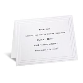 Wedding Reception and Information Cards: Timeless White Reception Card