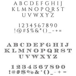 Ampersand Custom Stamp