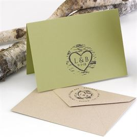 Birch Wood Custom Stamp