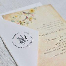 Lovebirds Address Stamp