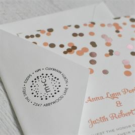 Polka Dots Address Stamp