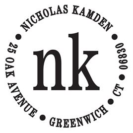Personalized Stamps: Nicholas Address Stamp