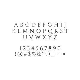 Filigree Custom Stamp