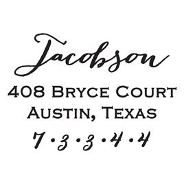 Jacobson Address Stamp