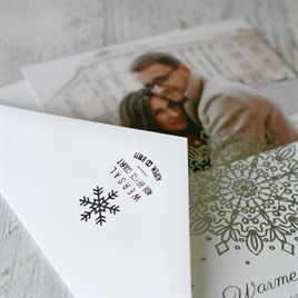 Snowflake Kiss Address Stamp