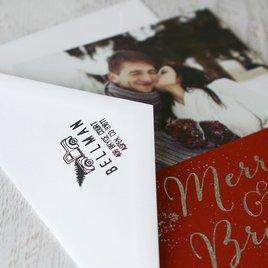 Christmas Tree Address Stamp