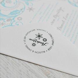 Snowflake Address Stamp