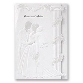 Fancy Wedding Invitations: At Last Invitation Pearl Invitation