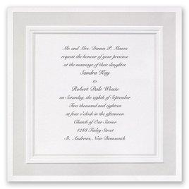 Fancy Wedding Invitations: Satin Touch Invitation