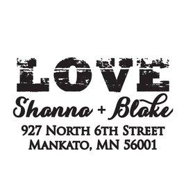 Love: LOVE Address Stamp