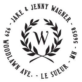Leaf Crest Address Stamp