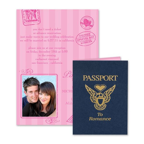 Passport to Romance  Invitation
