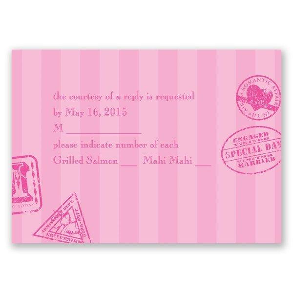Passport to Romance Response Card