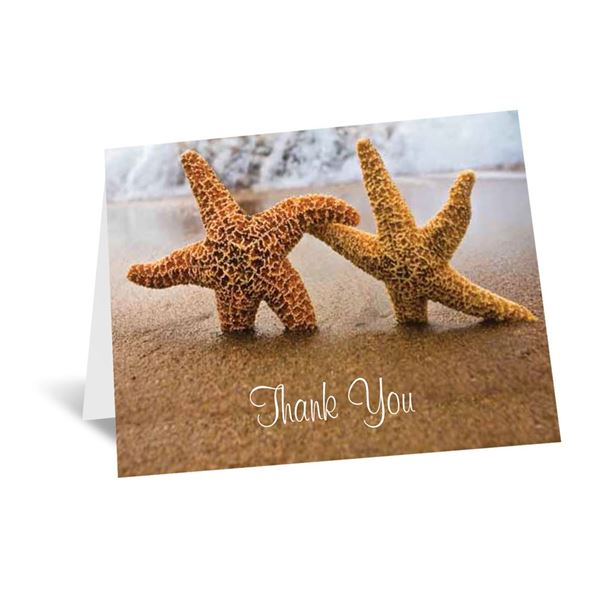 Starfish Thank You Card and Envelope