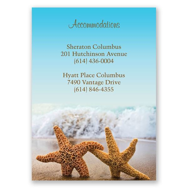 Starfish Accommodations Card