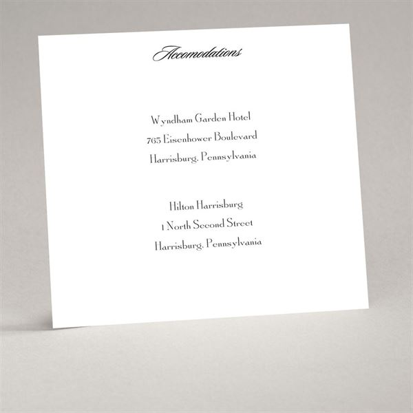 White Accommodation Card Square
