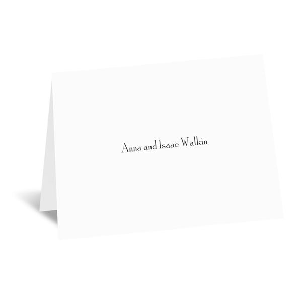 Bright White Thank You Card and Envelope Flat Printed