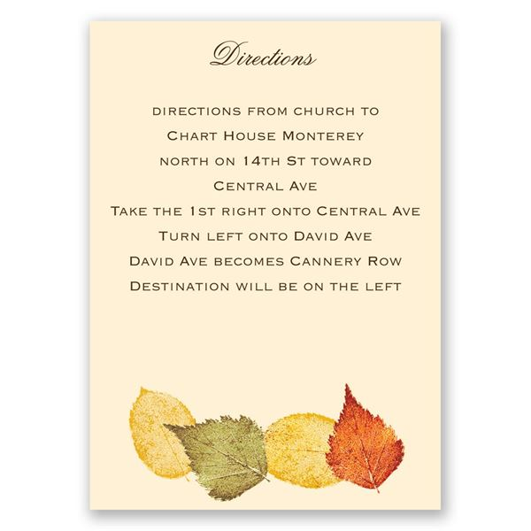 Touch of Autumn Map Card
