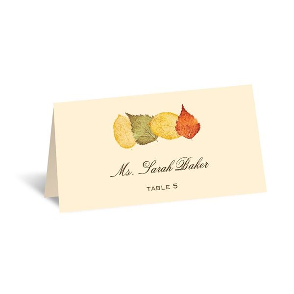 Touch of Autumn Escort Card