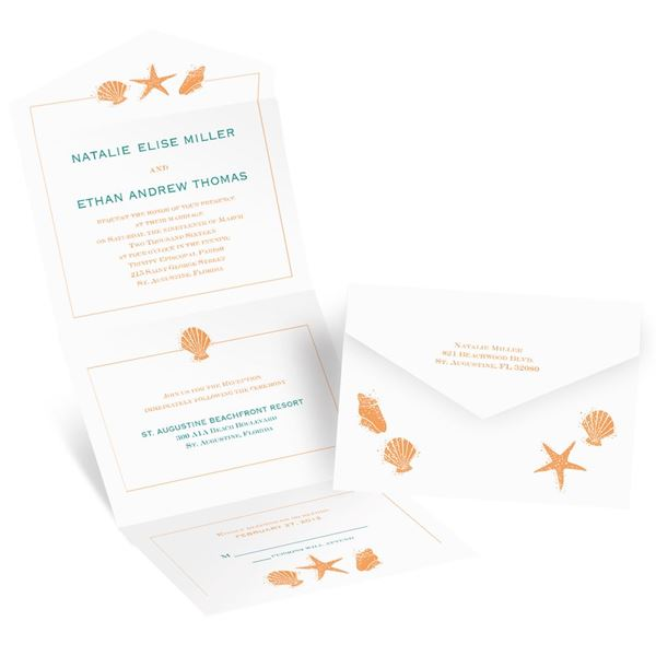 Lovely Shells Seal and Send Invitation
