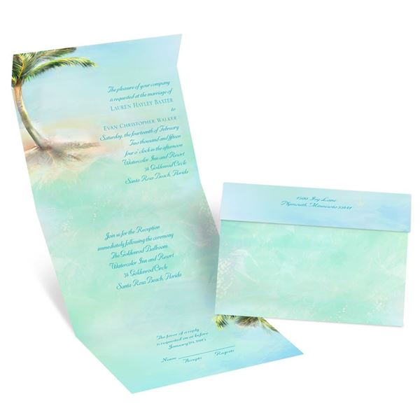 Palm Tree Seal and Send Invitation