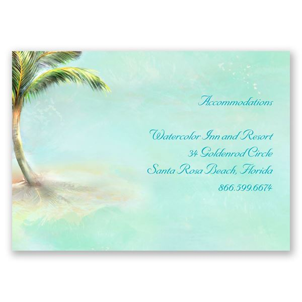 Palm Tree Accommodations Card