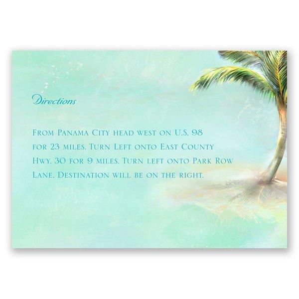 Palm Tree Map Card