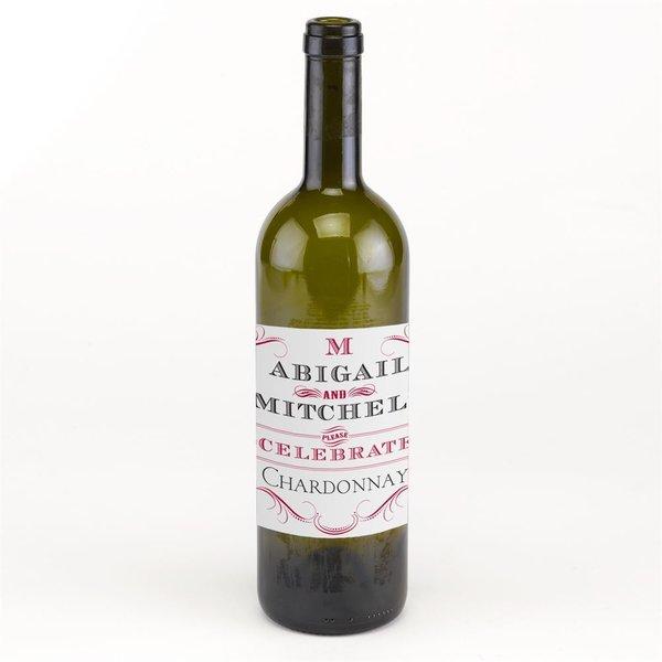 Bold Poster Wine Bottle Label