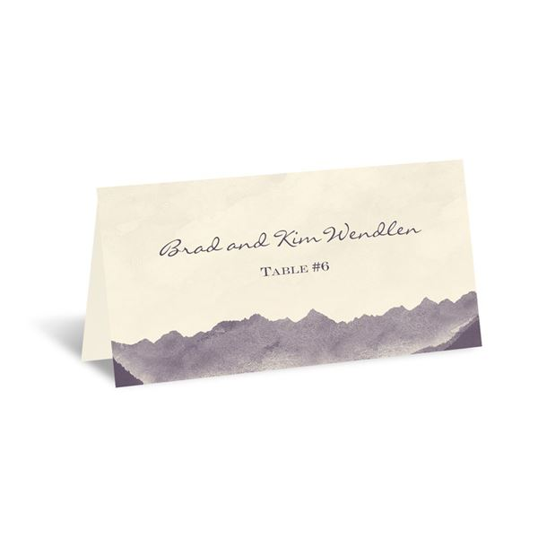 Mountain Mist - Ecru - Escort Card