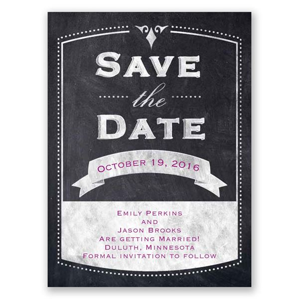 Old School Save the Date Card