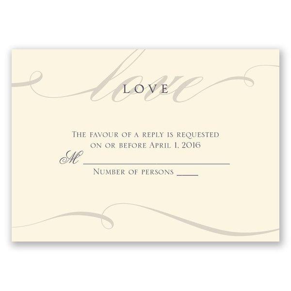 Love Never Fails - Ecru - Response Card and Envelope
