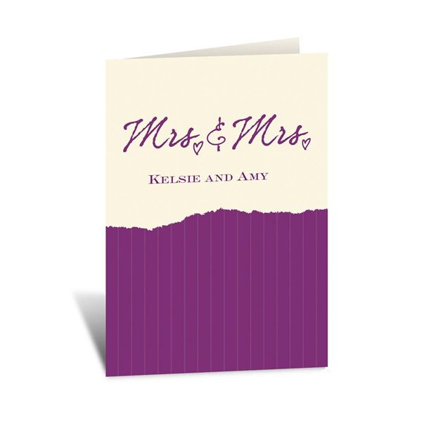 Mrs. and Mrs. - Ecru - Note Card and Envelope