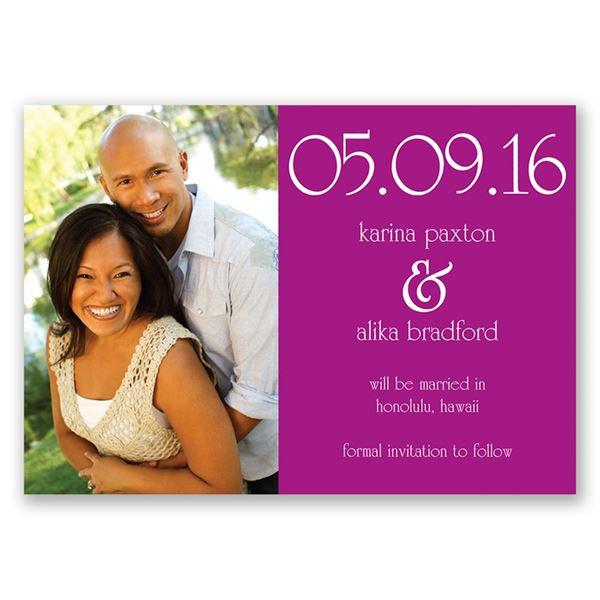 Big Date Save the Date Magnet