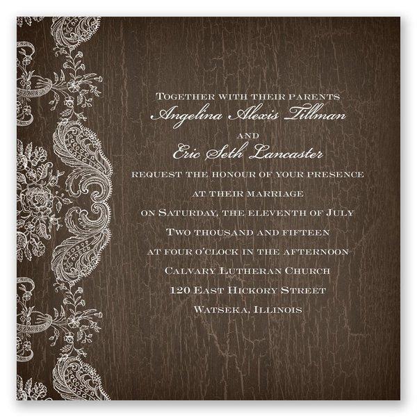 Rustic Lace Invitation
