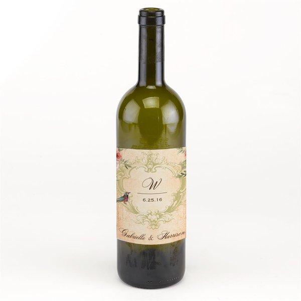 Vintage Birds Wine Bottle Label