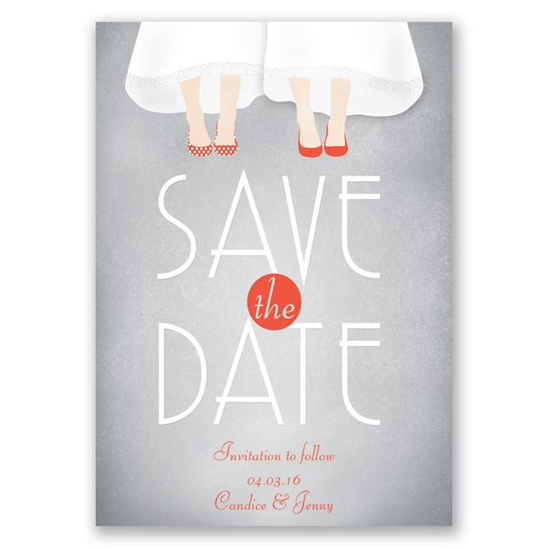 Dancing Shoes Mrs. and Mrs. Save the Date Card