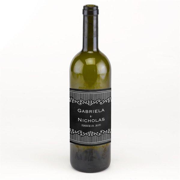Chalkboard Sketch Wine Bottle Label