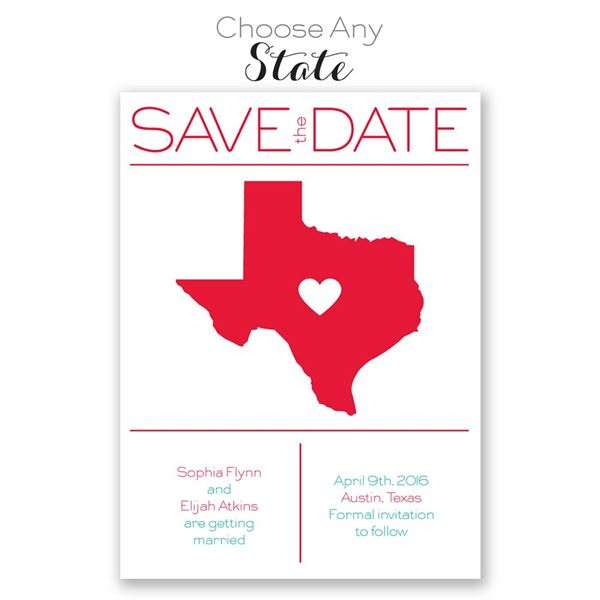 State Pride - Save the Date Card
