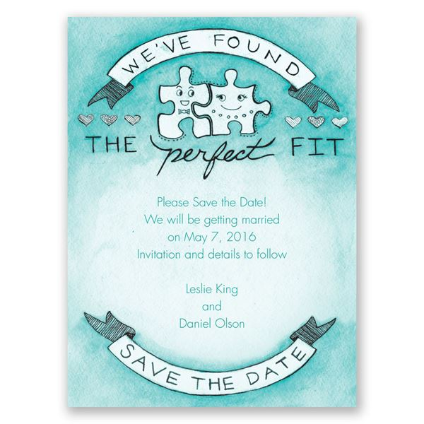 The Perfect Fit Save the Date Card