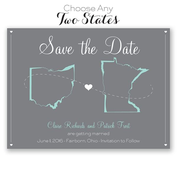 State Your Love Save the Date Card
