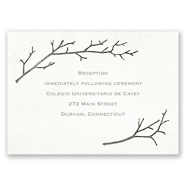 Beneath the Branches Reception Card