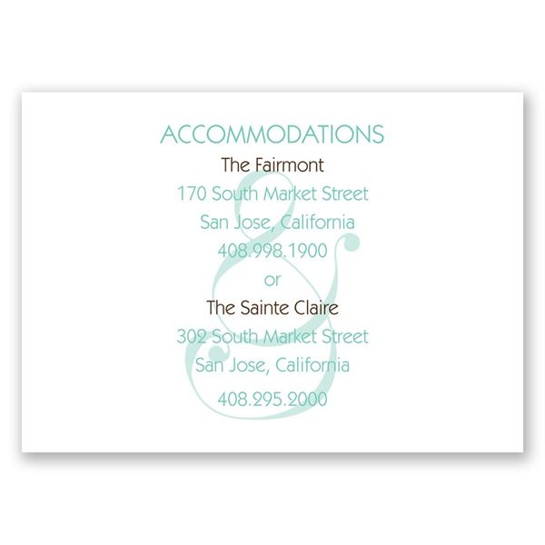 Happy Together Accommodations Card